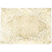 "10"" x 14"" Gold Foil Lace Doily - 1000/Case"