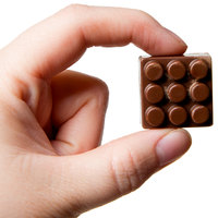 Matfer Bourgeat 383407 Polycarbonate 24 Compartment Lego Pieces Chocolate Mold