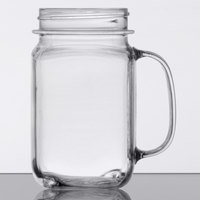 GET MAS-3 CL 16 oz. Clear Plastic Customizable Mason Drinking Jar with Handle - 24/Case