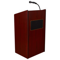 Oklahoma Sound 6010-MY Mahogany Finish Aristocrat Floor Lectern with Sound