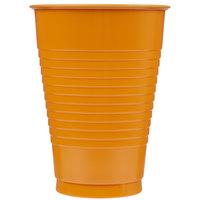 Creative Converting 323391 12 oz. Pumpkin Spice Orange Plastic Cup - 240/Case