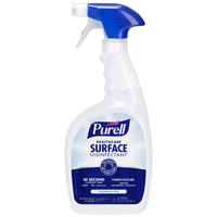 Purell 3340-12 1 Qt. / 32 oz. Fragrance Free Healthcare Surface Disinfectant - 12/Case