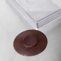 Matfer Bourgeat 380254 Polycarbonate 3 Compartment Saucers Chocolate Mold