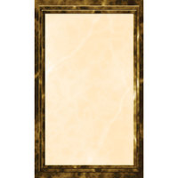 8 1/2 inch x 11 inch Brown Menu Paper - Marble Border - 100/Pack