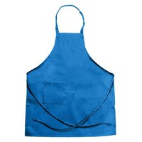 Chef Revival 601BAC-RB Customizable Full-Length Royal Blue Bib Apron - 34 inchL x 28 inchW