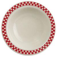 Homer Laughlin 1655413 Scarlet Checkers 3.25 oz. Ivory (American White) Narrow Rim Fruit Dish - 36/Case