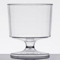 WNA Comet CCW2240 Classicware 2 oz. 1-Piece Clear Plastic Pedestal Wine Cup   - 10/Pack