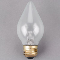 Satco S4535 60 Watt Clear Shatterproof Finish Decorative Incandescent Rough Service Light Bulb - 120V (C15)