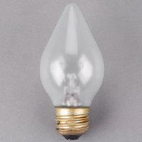Satco S4535 60 Watt Clear Shatterproof Finish Decorative Incandescent Rough Service Light Bulb - 120V (C15)