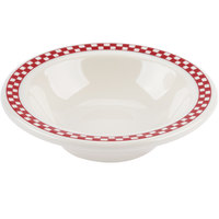 Homer Laughlin 1665413 Scarlet Checkers 4 oz. Ivory (American White) Narrow Rim Fruit Dish - 36/Case