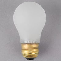 Satco S4881 40 Watt Frosted Shatterproof Finish Incandescent Rough Service Light Bulb - 130V (A15)