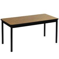 Correll LR2448-06 24 inch x 48 inch Medium Oak Library Table - 29 inch Height