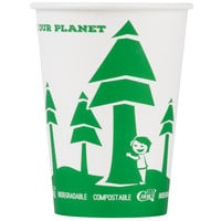 EcoChoice 32 oz. Compostable and Biodegradable Paper Soup / Hot Food Cup with Tree Design - 500/Case