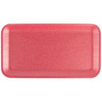 CKF 88064 (#10S) Rose Foam Meat Tray 10 3/4 inch x 5 3/4 inch x 1/2 inch - 500/Case