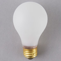Satco S3930 60 Watt Frosted Shatterproof Finish Incandescent Rough Service Light Bulb -130V (A19)