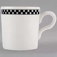 Homer Laughlin 1251636 Black Checkers 2.75 oz. Ivory (American White) A.D. Imperial Cup - 36/Case