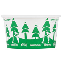 EcoChoice 12 oz. Compostable and Biodegradable Paper Food Cup with Tree Design - 500/Case