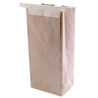 3 lb. Brown Customizable Paper Coffee Bag Tin Tie Reclosable 250 / Case