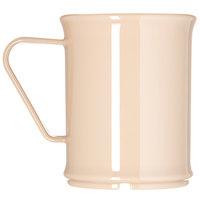 Carlisle PCD79625 9.6 oz. Tan Polycarbonate Plastic Mug - 48/Case
