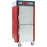 Metro C549-ASDS-U Insulated Stainless Steel Full Height Hot Holding Cabinet with Solid Dutch Doors and Universal Slides - 120V, 1360W