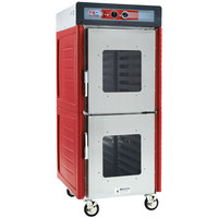 Metro C549-ASDC-L Insulated Stainless Steel Full Height Hot Holding Cabinet with Clear Dutch Doors and Lip Load Slides - 120V, 1360W