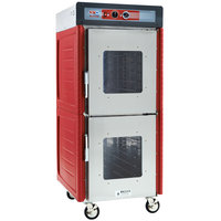 Metro C549X-ASDC-U Insulated Stainless Steel Full Height Hot Holding Cabinet with Clear Dutch Doors and Universal Slides - 220/240V, 1360W