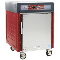 Metro C545X-ASFS-U Insulated Stainless Steel Half Height Hot Holding Cabinet with Solid Door and Universal Slides - 220/240V, 1360W