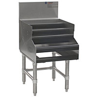 Eagle Group LDDR12-19 Spec-Bar Five-Tiered 12 inch x 29 inch Liquor Display - Double Speed Rail Alignment