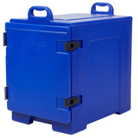 CaterGator 16 3/4 inch x 24 inch x 25 inch Blue Front Loading Insulated Food Pan Carrier