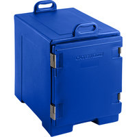 Blue Front Loading Insulated Food Pan Carrier - Holds 5 Pans