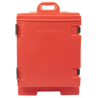 CaterGator 16 3/4 inch x 24 inch x 25 inch Red Front Loading Insulated Food Pan Carrier