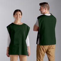 Choice 29 inch x 20 inch Hunter Green Poly-Cotton Cobbler Apron with Two Pockets