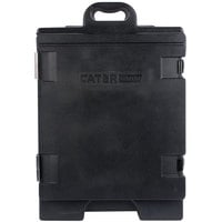 CaterGator 16 3/4 inch x 24 inch x 25 inch Black Front Loading Insulated Food Pan Carrier