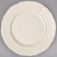 Homer Laughlin by Steelite International HL54800 Carolyn 10 5/8 inch Ivory (American White) Scalloped Edge Plate - 12/Case