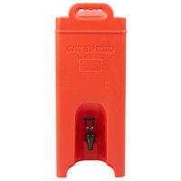 CaterGator 5 Gallon Red Insulated Beverage Dispenser