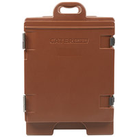 CaterGator 16 3/4 inch x 24 inch x 25 inch Brown Front Loading Insulated Food Pan Carrier