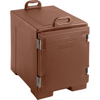 Brown Front Loading Insulated Food Pan Carrier - Holds 5 Pans