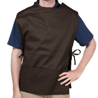 Choice 29 inch x 20 inch Brown Poly-Cotton Cobbler Apron with Two Pockets