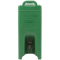 CaterGator 5 Gallon Green Insulated Beverage Dispenser