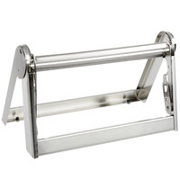 Bulman A502-12 12 inch Stainless Steel All-In-One Paper Cutter / Dispenser with Straight Edge Blade