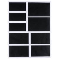 Choice Assorted Rectangular Vinyl Chalkboard Labels - 18/Pack