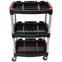 Luxor MC-3 Black 3 Shelf Mechanics Cart - 23 inch x 18 inch