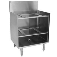 Eagle Group GR24-24 Spec-Bar 24 inch x 24 inch Stainless Steel Glass Rack Storage Unit with Shelves