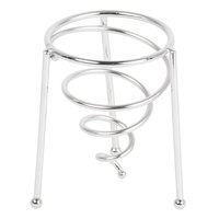 GET 4-81644 3 inch Stainless Steel Spiral Stackable Cone Basket