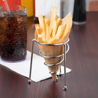 Clipper Mill by GET 4-81644 3 inch Stainless Steel Spiral Stackable Cone Basket