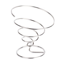 Clipper Mill by GET 4-22800 7 inch Chrome Spiral Cone Basket
