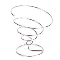 GET 4-22800 7 inch Chrome Spiral Cone Basket