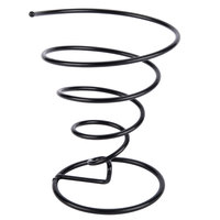 GET 4-32805 7 inch Black Wrought Iron Spiral Cone Basket with Plastic Coating