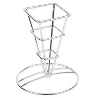Clipper Mill by GET 4-21644 2 1/2 inch Mini Square Metal Cone Basket
