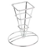 GET 4-21644 2 1/2 inch Mini Square Metal Cone Basket